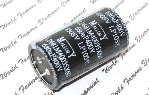 400V LP681M40035X60 Snap-In Capacitor - BOX032 680µF MALLORY 680uF 1pcs