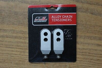 "Promax Bmx Chain Tensioners for 3//8/""//10mm Axles Silver Pair //MCS//REDLINE//HARO"