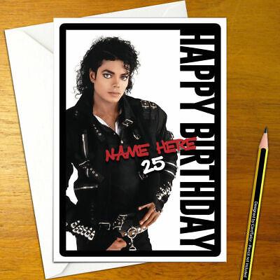 Personnalisé michael jackson carte d/'anniversaire