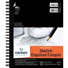 60 lb Strathmore 400 Series Recycled Sketch Pad 100 Sheets 9 x 12 Inches