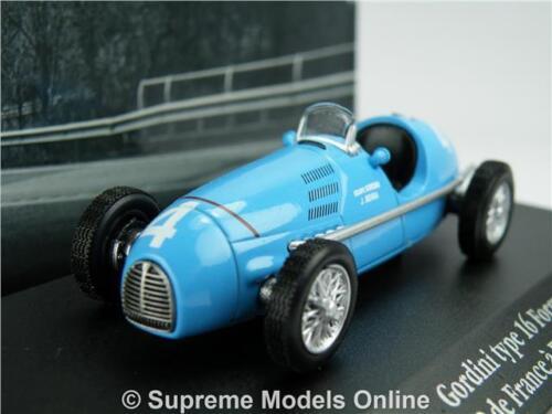 Gordini tipo 16 Coche Modelo 1:43 escala 1952 IXO Atlas la saga de fórmula 2 GP T3