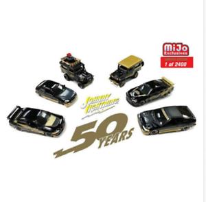 Johnny Lightning 50th Anniv. Black & gold Import Series (6 Cars set) 1 64
