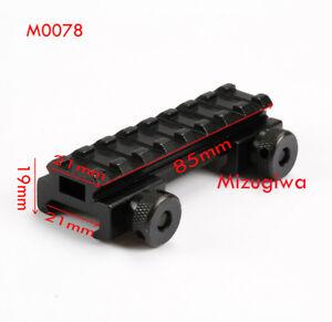8-Slot-Base-Riser-Adapter-21MM-Picatinny-Weaver-Rail-Scope-Mount-Rail-For-Laser