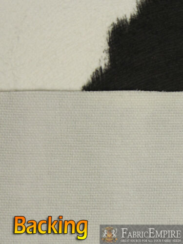 """SOLD  BTY Suede Velvet HOLY COW Print Fabric Upholstery BLACK 54/"""" Wide"""