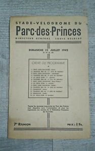 Stadium-Velodrome-of-The-Park-Of-Princes-Programme-1942