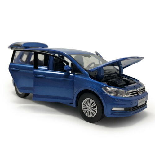 All New Touran L MPV 1//32 Die Cast Modellauto Spielzeug Sammlung Pull Back Blau