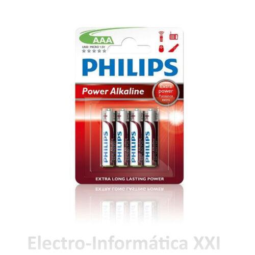 BLISTER 4 PILAS ALCALINAS PHILIPS AAA LR03 1.5V GRAN CALIDAD ENVIO DESDE ESPAÑA