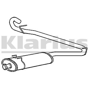 Replacement Exhaust Rear Back Box Silencer 2 Year Warranty Brand New!