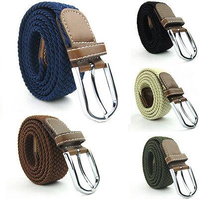 General Woven Elastic Canvas Belt  Men's Wide Elastic Stretch Belt  Durable Belt