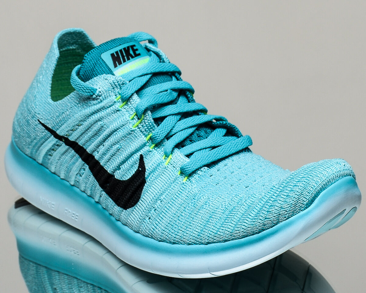 Nike WMNS Free RN Flyknit womens run running shoes NEW hyper turquoise black