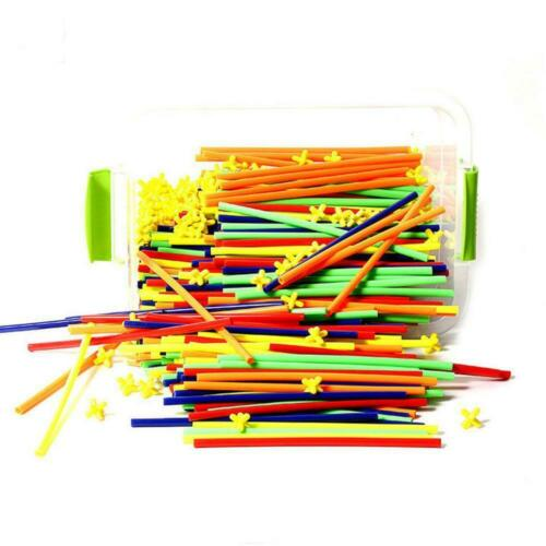 100Pcs//Kit Kids Straw Joint Building Blocks Construction Toys Development Gifts