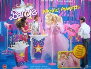 Image is loading Vintage-Barbie-Super-Star-Barbie-Movie-Awards-Playset-