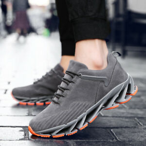 Men-039-s-Cool-Suede-Sneakers-Blade-Cushion-Sole-Casual-Running-Parkour-Sport-Shoes