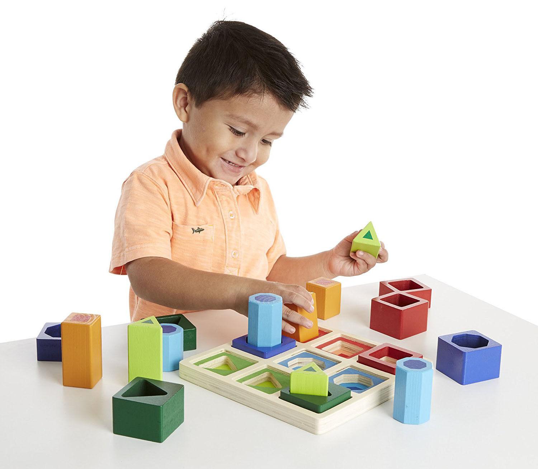 Educational Toys Autistic : Sensory educational puzzle toys creative sorting shape set