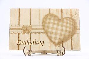 Holz Einladungskarte Laser Graviert Hochzeit Einladung Einladung