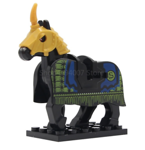 War Horse Legoe Blocks Medieval Knights Rome Crusader Accessories Lord Rings
