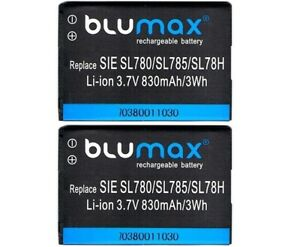 2 X Original Blumax Akku für Siemens Gigaset SL788 / SL400 / SL400A / SL400H