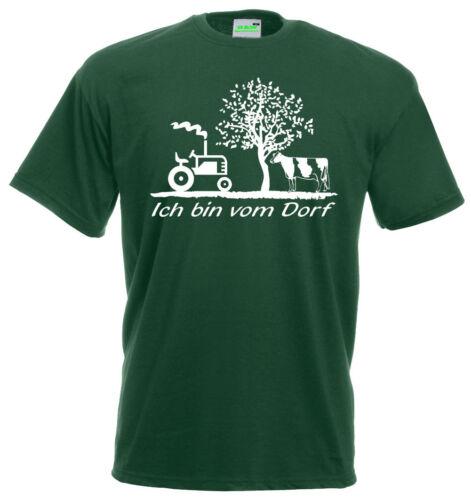 Ich bin vom Dorf T-ShirtSpaßshirtSpruchLandlebenDorfkind    177-0
