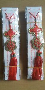 1 Glücksbringer Hänger Asien Kawaii Rot Deko (neu)