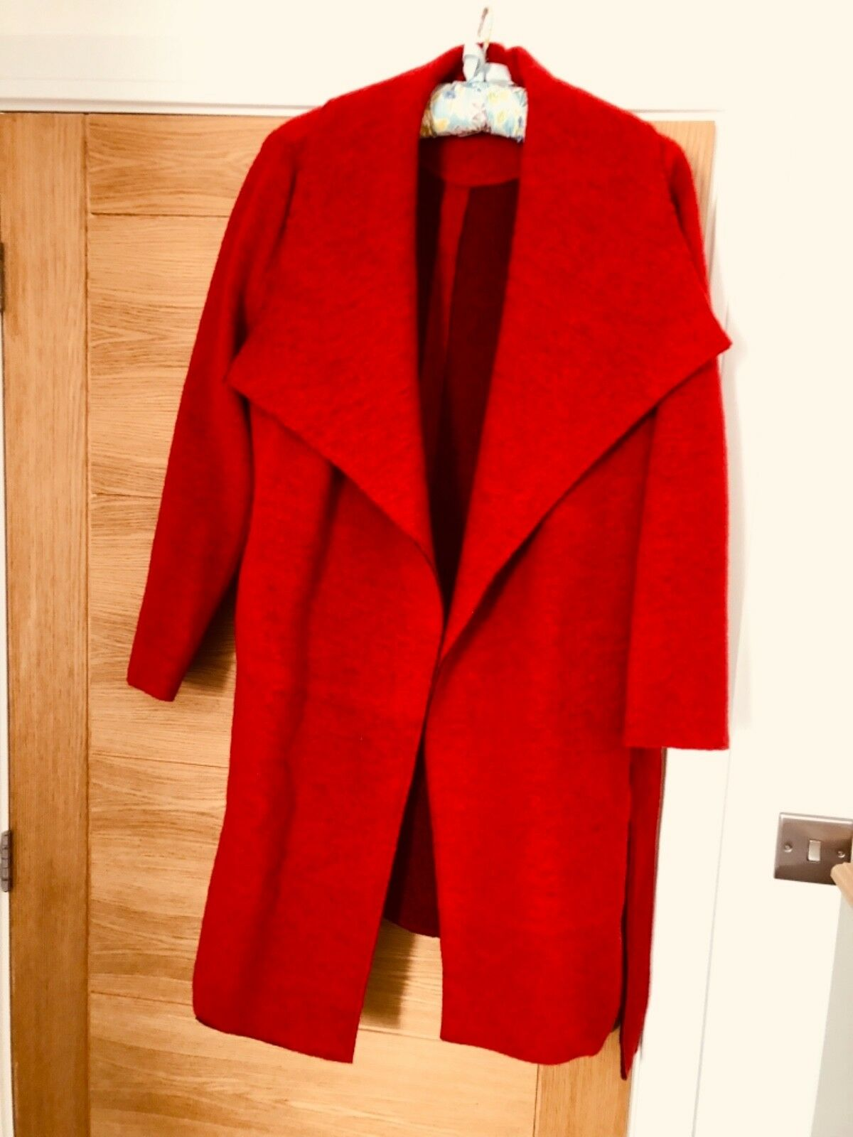 Ashley Brooke Red 3 4 Length Coat Nearly New Worn Once