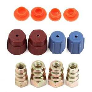 Details about A/C R12 to R134a Low/High Side Retrofit Conversion Adapter  Fitting Cap Valve