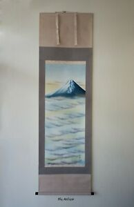 Japanese Hanging Scroll: A Mountain on Clouds