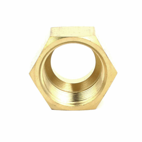 1//4 inch Brass Fittings Forged Flare Female Nuts Air Conditioner Parts 10pcs