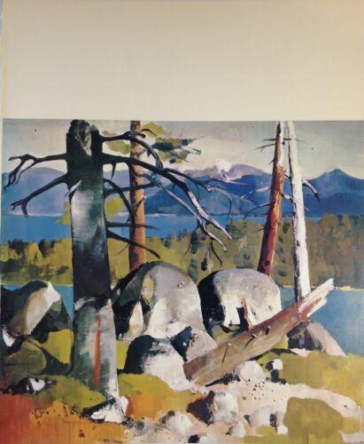 "1970 Vintage CALIFORNIA Full Color Art Plate /""LAKE TAHOE/"" McIntyre Lithograph"