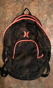 d7cad77ea7 Details about Hurley 20L Camouflage Backpack with Hot Pink Trim