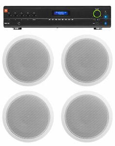 6.5 Wall Speakers 4 JBL VMA160 Commercial//Restaurant 70v Bluetooth Amplifier+