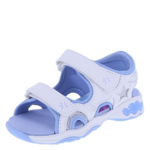 Disney Frozen Filles Bambin Blanc Coeurs Star Sandale Sandales Paillettes Taille 5 11