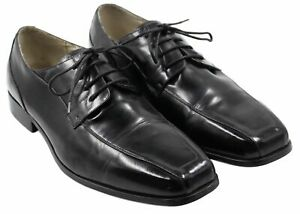 Stacy-Adams-Mens-Leather-Black-Lace-Up-Formal-Oxford-Dress-Shoes-Size-13M