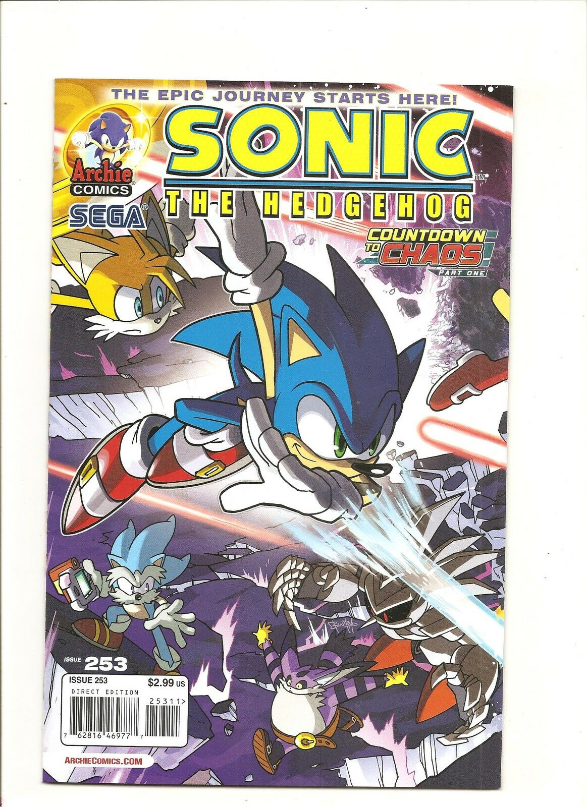 Archie Comics Sonic The Hedgehog 253 Countdown to Chaos Part 1 NM M