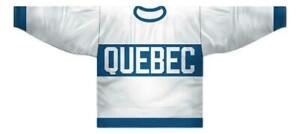Any Name Number Size Quebec Bulldogs Retro Hockey Jersey White