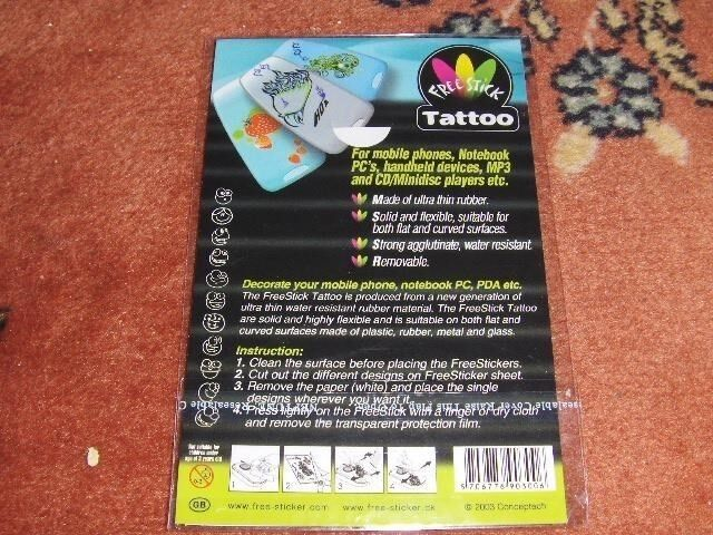 Klistermærker, TATTOOS / STICKERS