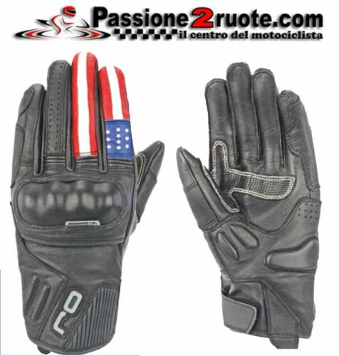 Guanti pelle leather gloves OJ FIGHTER USA America XL