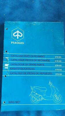 Collezione Qui Catalogo Parti Di Ricambio Piaggio Nrg Mc2 Spare Parts 1996 1997 578165