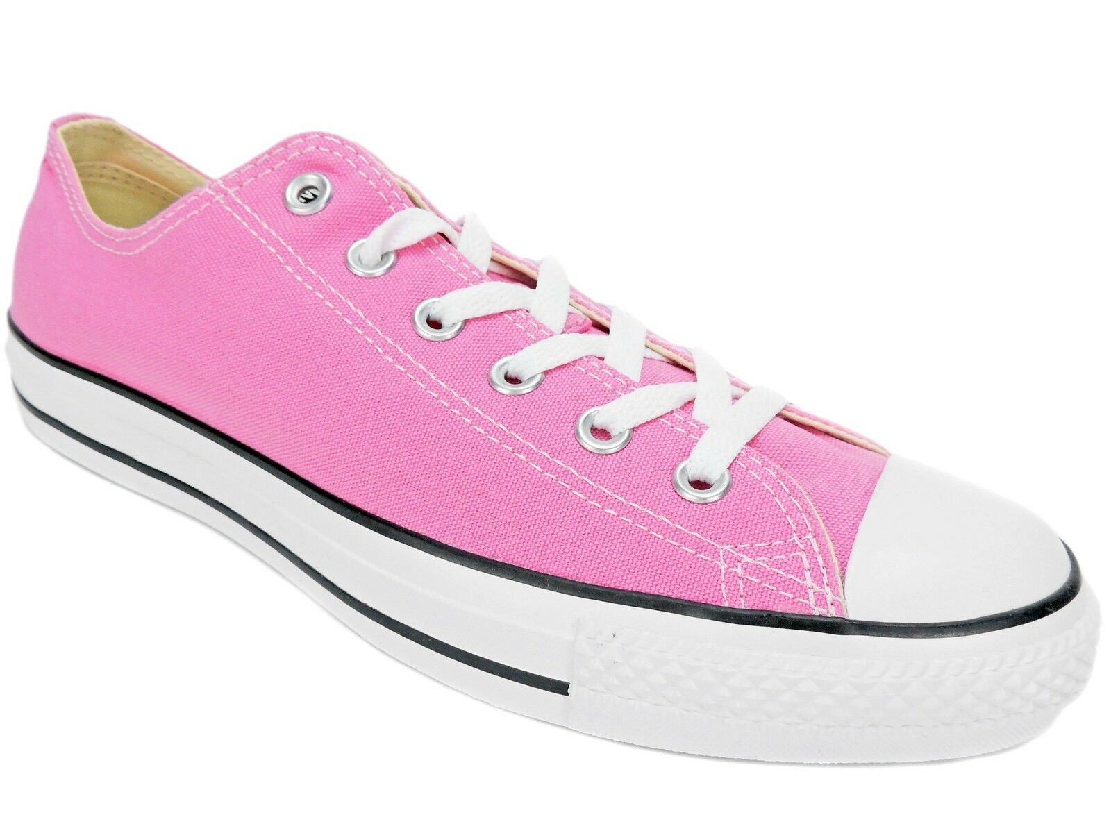 Converse All Star Unisex Oxford Sneakers Low Profile Pink Canvas M10.5 W12.5 Scarpe classiche da uomo