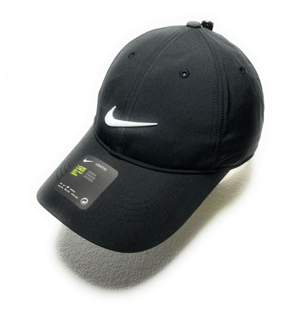 de0cc9c42e80b NEW NIKE GOLF LEGACY 91 DRI-FIT HAT CAP UNISEX ADJUSTABLE PROTECTOR BLACK