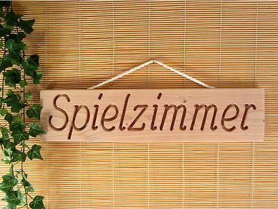 LiebenswüRdig Spielzimmer 50 Cm Lang Douglasie Massiv Natur Wandschild Holz Dekoschild