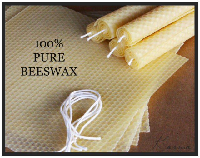 Beeswax Candle Making Kit - 100% Pure Organic Beeswax - Set of 4