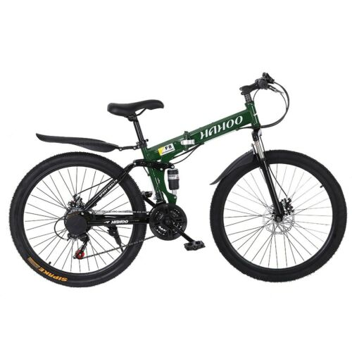 """Details about  /NEW 26/"""" Wheels Folding Mountain Bike  21 Speed Bicycle MTB Front Suspension US"""