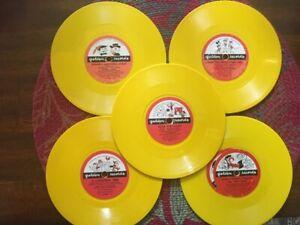 Lot of Six Vintage Walt Disney Prod.little golden records 78 RPM -1950's-1960's