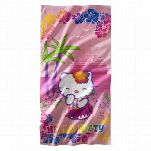 "28/"" x 58/"" Hawaii Hula New 100/% Cotton Sanrio Hello Kitty Beach Bath Towel"