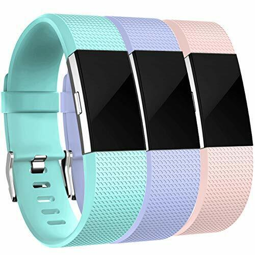 Maledan® Superb 3-pk Fitbit Charge 2 Replacement Bands Durable Strap Fitness