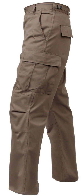 Khaki Military BDU Style Cargo Fatigue Pants redhco 7901