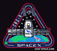 Crs-8 - Spacex Original Falcon 9 Dragon F-9 Iss Nasa Resupply Mission Patch