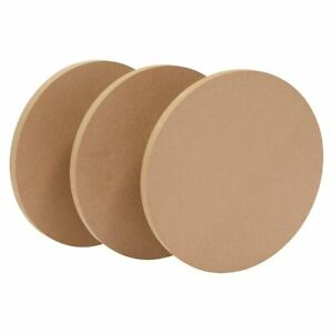 Unfinished 12 Inch Round Wood Circles for Crafts and Art Projects (3 Pack)