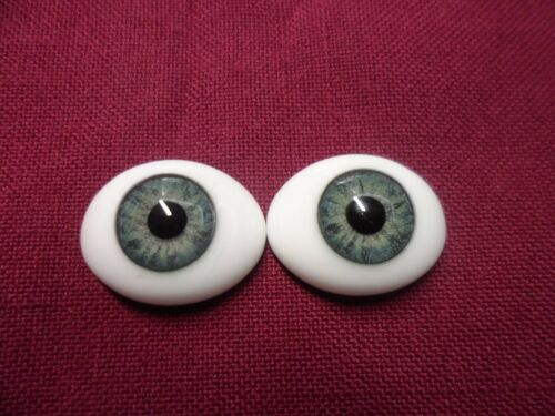 FREE SHIPPING Oval flat back Glass Eyes 45.00 with FAST SPECIAL 3 PR