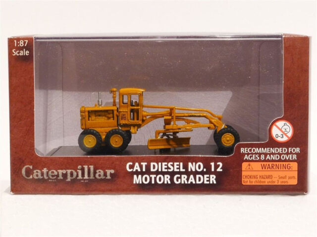 Cat Diesel No 12 Motor Grader 1/87 scale model by Norscot 55173